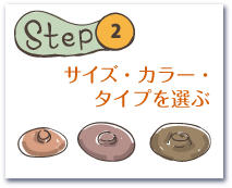 Step2. サイズ・カラー・タイプを選ぶ
